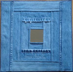 denim quilt block